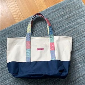Vineyard Vines Canvas Patchwork Large Tote